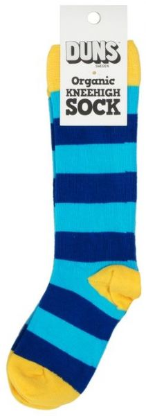 Duns Knee High Socks Blue Stripe